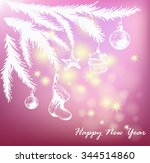 christmas vector illustration.... | Shutterstock .eps vector #344514860