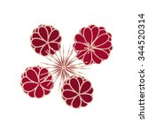 dark red stylized flowers and... | Shutterstock .eps vector #344520314