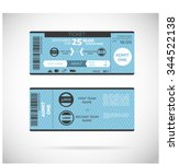 sports ticket card. modern... | Shutterstock .eps vector #344522138