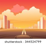 city street road  the scene of... | Shutterstock .eps vector #344524799