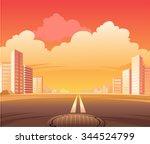city street road  the scene of...   Shutterstock .eps vector #344524799