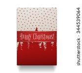 realistic christmas gift box... | Shutterstock . vector #344539064