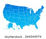 highly detailed map of the... | Shutterstock .eps vector #344544974