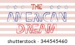 American Dream Hand Written...