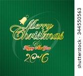 merry christmas. xmas. green.... | Shutterstock .eps vector #344550563
