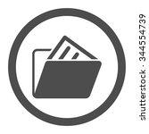 document folder vector icon....   Shutterstock .eps vector #344554739