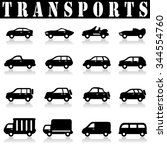 car icons   Shutterstock .eps vector #344554760