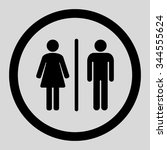 toilets vector icon. style is... | Shutterstock .eps vector #344555624