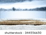 winter blue background with... | Shutterstock . vector #344556650