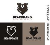 vector illustration of bear.... | Shutterstock .eps vector #344558273