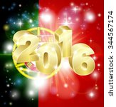 a portuguese flag with 2016... | Shutterstock . vector #344567174