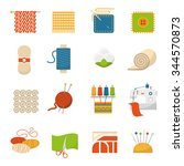 textile industry flat icons set ... | Shutterstock .eps vector #344570873