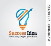modern bulb graph logo | Shutterstock .eps vector #344587580