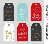 tags for christmas gifts.... | Shutterstock .eps vector #344595929