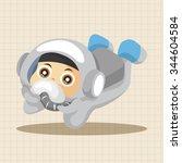 space astronaut theme elements | Shutterstock .eps vector #344604584