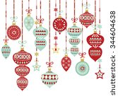 christmas decoration elements | Shutterstock .eps vector #344604638