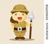 explorer theme elements  | Shutterstock .eps vector #344604908