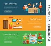 hotel horizontal banner set...   Shutterstock .eps vector #344607488