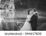 beautiful happy couple on... | Shutterstock . vector #344617820