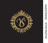 ys initial luxury ornament... | Shutterstock .eps vector #344623394