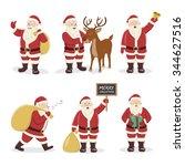 santa claus set. character...   Shutterstock .eps vector #344627516