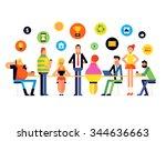 flat design style modern vector ... | Shutterstock .eps vector #344636663