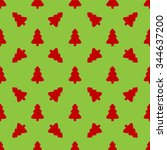 pattern for wrapping paper. red ... | Shutterstock .eps vector #344637200