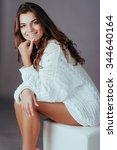 portrait of young happy... | Shutterstock . vector #344640164