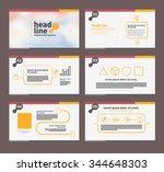 presentation template flat... | Shutterstock .eps vector #344648303