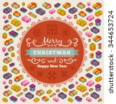 merry christmas vector... | Shutterstock .eps vector #344653724