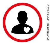 cardiology patient vector icon. ...   Shutterstock .eps vector #344664110