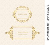 vector decorative frame.... | Shutterstock .eps vector #344666378