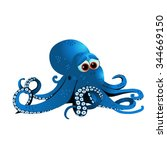 blue octopus | Shutterstock .eps vector #344669150