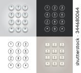 user interface keypad for phone ... | Shutterstock .eps vector #344680064