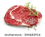 fresh raw beef steak with... | Shutterstock . vector #344683916