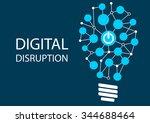 digital disruption concept.... | Shutterstock .eps vector #344688464