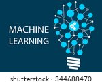 machine learning concept.... | Shutterstock .eps vector #344688470