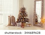 a stylish interior with elegant ... | Shutterstock . vector #344689628