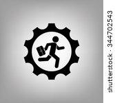 man in gear | Shutterstock .eps vector #344702543