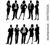 silhouettes of business men and ... | Shutterstock .eps vector #344703326