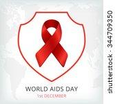 aids world day vector... | Shutterstock .eps vector #344709350