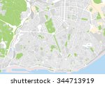 vector city map of lisbon ...   Shutterstock .eps vector #344713919