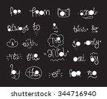 vector hand drawn ampersands...   Shutterstock .eps vector #344716940