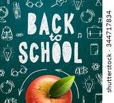 welcome back to school sale... | Shutterstock .eps vector #344717834