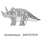 cartoon  hand drawn  vector... | Shutterstock .eps vector #344747519