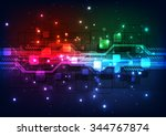 abstract futuristic digital