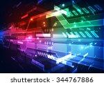 abstract futuristic digital... | Shutterstock .eps vector #344767886