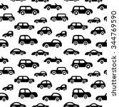 doodle cars background.... | Shutterstock .eps vector #344769590