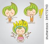 sweet thai candy girl vector... | Shutterstock .eps vector #344772743
