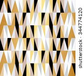 scandinavian design triangles... | Shutterstock .eps vector #344774120
